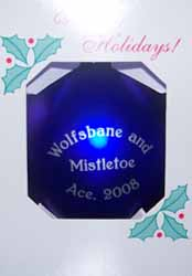 Wolfsbane and Mistletoe Ornament