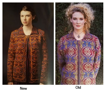 Comparison of Mary Tudor Sweater in new and old book